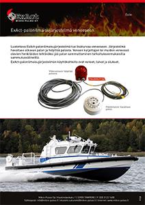 Esite ExAct palonilmaisujärjestelmä veneeseen.