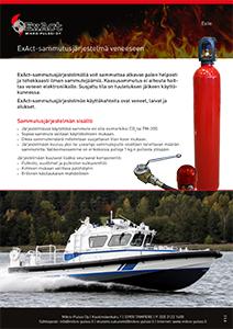 Esite ExAct sammutusjärjestelmä veneeseen.
