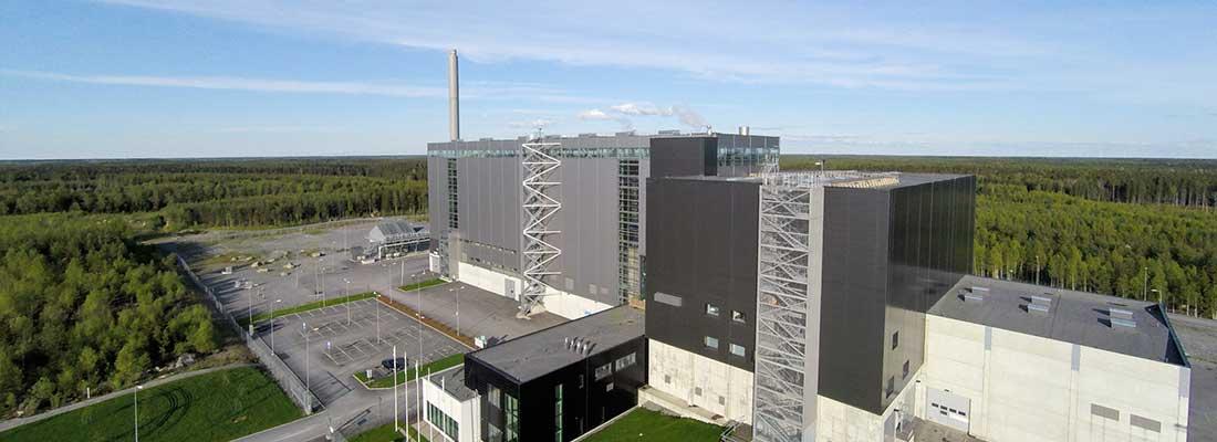 Westenenergyn jätteenpolttolaitos Mustasaaressa.